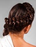 Het haar van Coiffed om het hoofd stock afbeeldingen