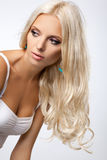Het Haar van de blonde Royalty-vrije Stock Afbeelding