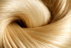 Het Haar van de blonde Blonde haartextuur royalty-vrije stock afbeelding