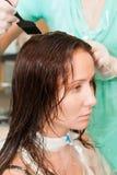 Het haar van de kleurstof Stock Afbeeldingen
