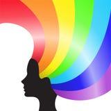 Het haar van de regenboog Royalty-vrije Stock Foto's