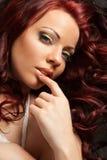 Het Haar van de schoonheid Portrait.Healthy Stock Foto