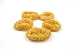 Het haar van de spaghettiengel royalty-vrije stock foto