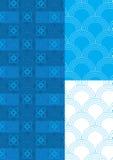 Het halve Naadloze Patroon van het Thema van de Cirkel Blauwe Royalty-vrije Stock Foto's