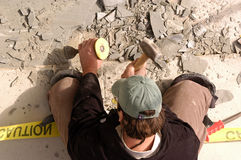 Het hameren van beton Royalty-vrije Stock Foto's