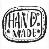 Het Hand-drawn zwart-witte van letters voorzien Stock Foto