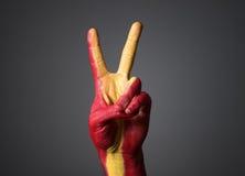Het hand geschilderde symbool van vlagSpanje van overwinning Stock Fotografie