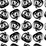 Het hand getrokken Halloween-patroon van de pompoenschets Royalty-vrije Stock Foto