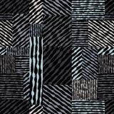 Het hand getrokken naadloze patroon van lijnentexturen, vectorhand getrokken bedelaars Stock Foto's