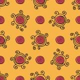 Het hand getrokken naadloze patroon van Zentangle Stock Foto