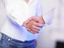 Het Handenschudden van de handdruk stock afbeelding
