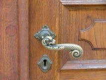 Het handvat van de deur stock fotografie