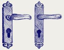 Het handvat van de deur stock illustratie