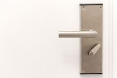 Het handvat van het deurmetaal Stock Foto