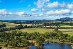 Het hangen de mening van het rotsvooruitzicht, Australië Royalty-vrije Stock Afbeeldingen