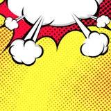 Het hangen de Stijl van het de Wolkenpop-art van de Toespraakbel Stock Foto