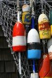 Het hangen van Boeien in Rockport, Massachusetts Royalty-vrije Stock Foto