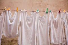 Het Hangen van de wasserij Stock Afbeelding