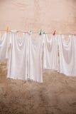 Het Hangen van de wasserij Royalty-vrije Stock Foto