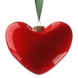 Het hangen van het hart op een lint. Royalty-vrije Stock Afbeelding