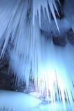 Het hangen van het ijs stock foto's