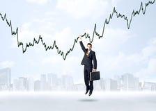 Het hangen zakenmanconcept Royalty-vrije Stock Afbeelding