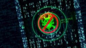 Het hangslotconcept van de Cyberveiligheid stock footage