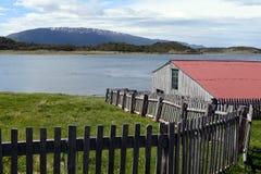 Het Harbertonlandgoed is het oudste landbouwbedrijf van Tierra del Fuego Stock Afbeelding