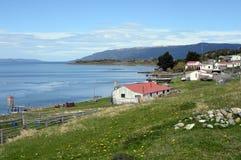 Het Harbertonlandgoed is het oudste landbouwbedrijf van Tierra del Fuego Stock Foto's