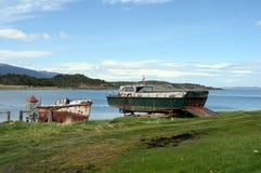 Het Harbertonlandgoed is het oudste landbouwbedrijf van Tierra del Fuego en een belangrijk historisch monument van het gebied Stock Foto's