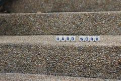 Het harde werk aangaande de collectieve ladder Stock Fotografie