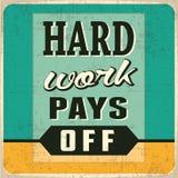 Het harde werk levert resultaat op Stock Afbeelding
