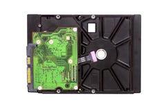 Het hardeschijfstation HDD isoleerde witte achtergrond, de high-tech industrie en informatica stock afbeeldingen