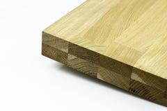 Het hardhout lijmde panelen die op witte achtergrond worden geïsoleerd stock afbeelding