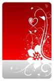 Het hart bloemenkaart van de valentijnskaart royalty-vrije illustratie