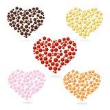 Het hart borrelt Valentijnskaartendag. reeks. Stock Afbeelding