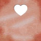 Het hart Copyspace betekent Valentine Day And Abstract Stock Foto's