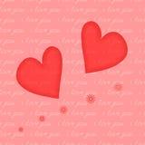 Het hart en de inschrijving naadloze I houden van u Stock Foto