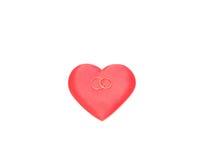 Het hart en de ringen. royalty-vrije stock fotografie