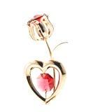 Het hart en nam toe Stock Foto