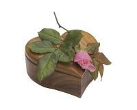 Het hart en roze nam toe royalty-vrije stock foto's