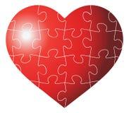 Het hart gaf illustratie van het raadsel de grafische malplaatje op witte achtergrond gestalte Royalty-vrije Stock Foto
