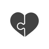 Het hart gaf illustratie van het raadsel de vector grafische die malplaatje op witte achtergrond wordt geïsoleerd gestalte Royalty-vrije Stock Foto
