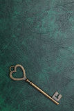 Het hart gaf uitstekende sleutel gestalte Royalty-vrije Stock Foto
