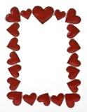 Het hart geeft frame gestalte Royalty-vrije Stock Foto's