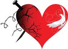 Het hart in goed en kwaad stock illustratie