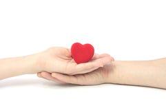 Het hart in handen. royalty-vrije stock fotografie