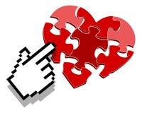 Het hart klikt royalty-vrije illustratie