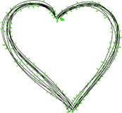 Het hart met doorbladert Royalty-vrije Stock Foto