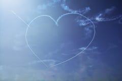 Het hart op de hemel Stock Foto